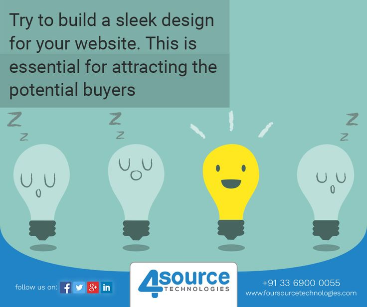Building a sleek design for your website is very essential. At Four Source we create designs after knowing the requirements of our clients.
