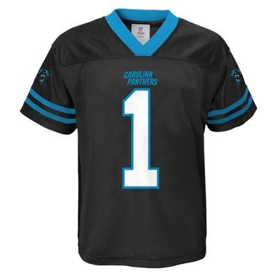 NFL Carolina Panthers Baby Boys' Cam Newton Jersey - Black 12 Months, Size: 12 M, Multicolored