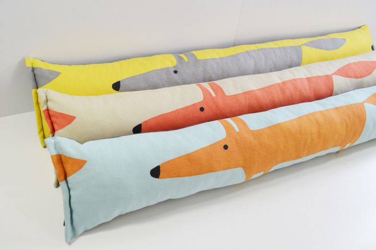 Scion Mr Fox Retro Draught Excluder - All colours listed by Andshine on Etsy https://www.etsy.com/listing/171335209/scion-mr-fox-retro-draught-excluder-all