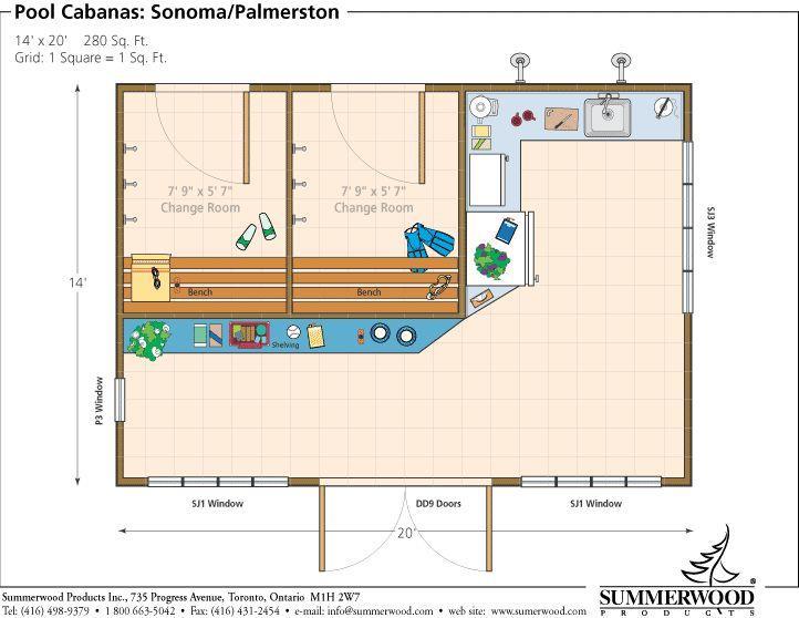 10 best pool deck ideas images on pinterest backyard for Pool cabana floor plans