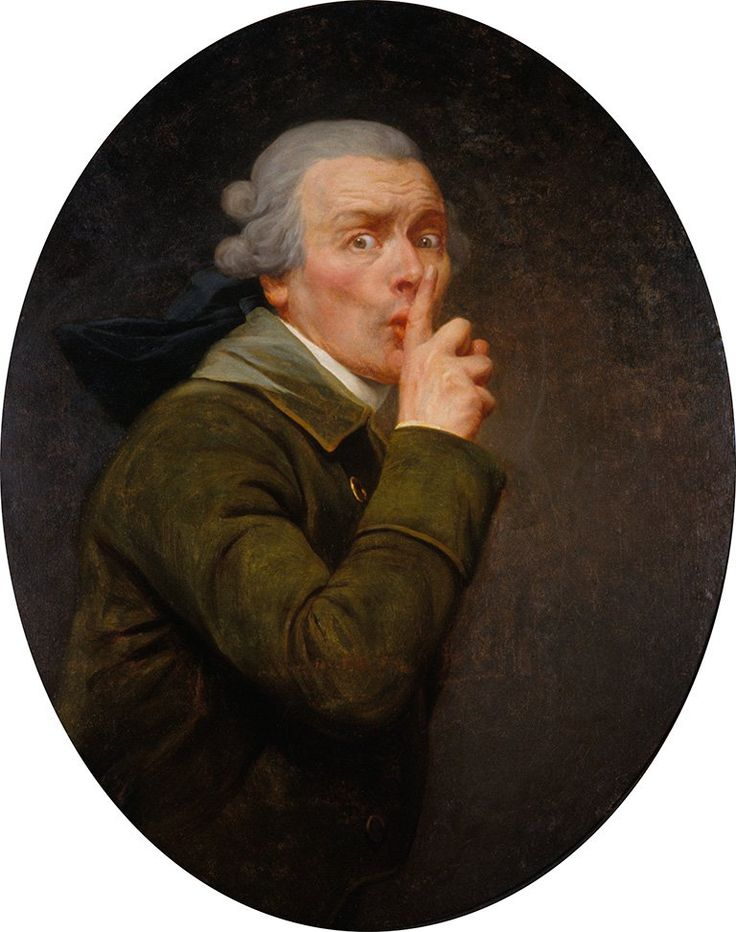 Joseph Ducreux, Le Discret, c. 1791. Image courtesy the Spencer Museum of Art.
