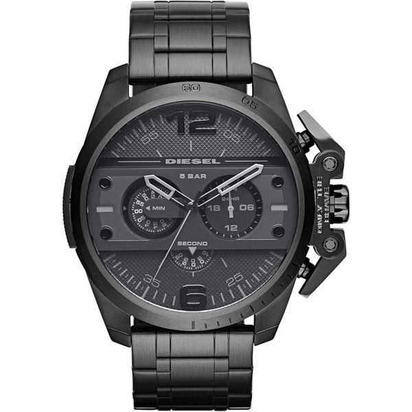 Men's Diesel 'Ironside' Chronograph Watch, 48Mm ($180) ❤ liked on Polyvore featuring men's fashion, men's jewelry, men's watches, black, diesel mens watches, mens chronograph watches, mens chronograph watch and mens watches jewelry