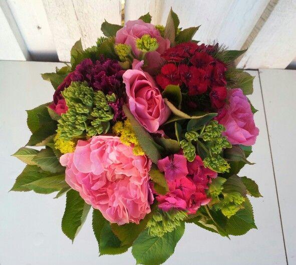 Buket med engelske roser