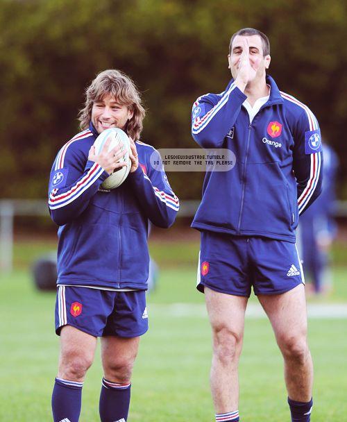 Dimitri Szarzewski et Yoann Maestri (entraînement - Tournée de juin 2013 - NZ)