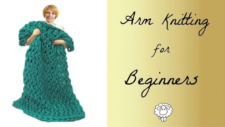 How To Arm Knit A Blanket For Beginners, Full video tutorial for arm knitting with wool roving or super chunky yarn by Truly Majestic