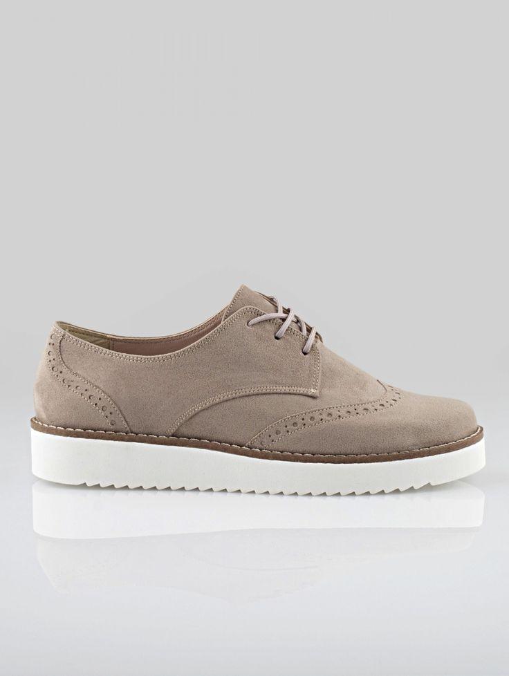 SUEDE FLATFORM OXFORDS S-40 - The Fashion Project - Γυναικεία παπούτσια, ρούχα, αξεσουάρ