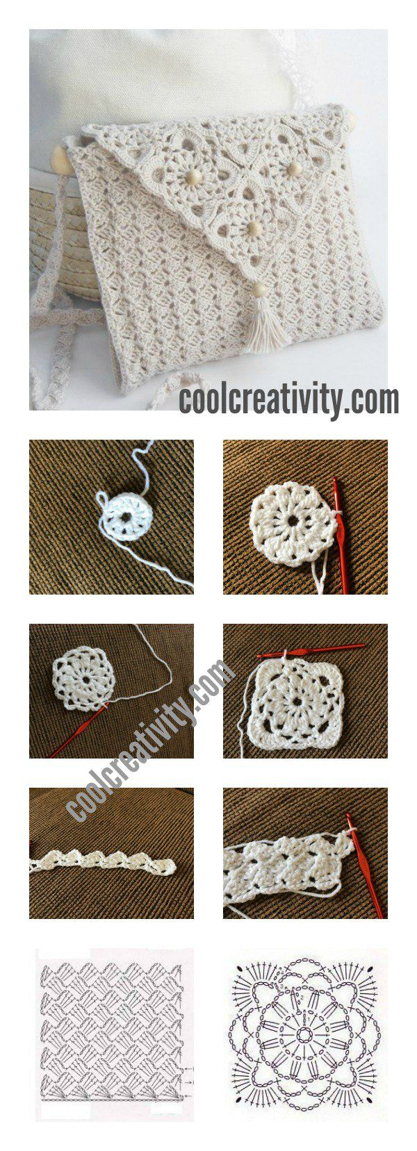 1000 images about crochet thread mini amp micro on pinterest - Crochet Pretty Handbag With Graphics And Free Pattern