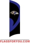 Ravens Tall Team Flag 8.5' x 2.5'