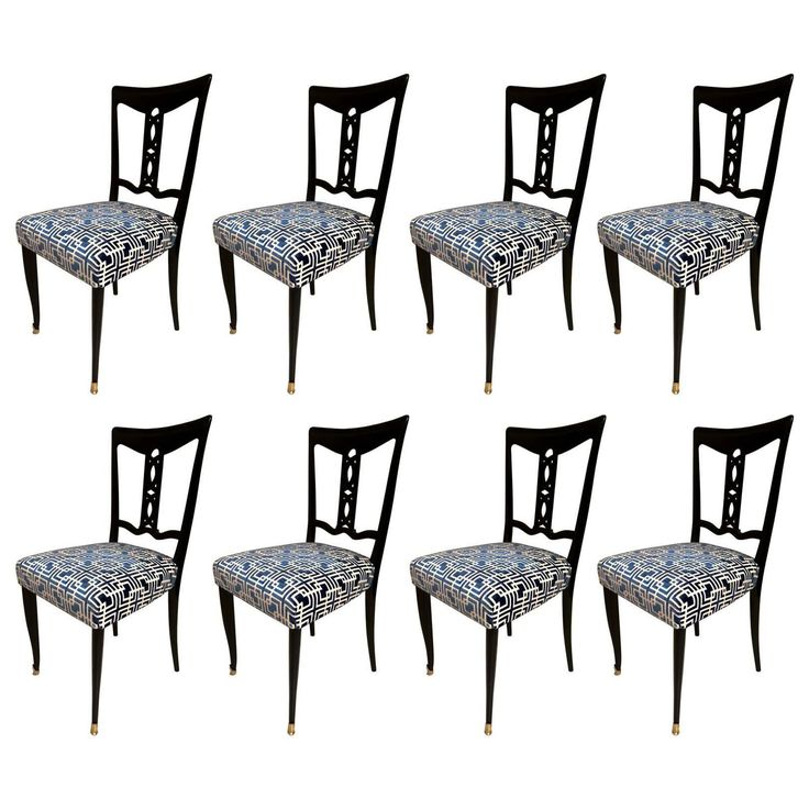 Eight Chairs in the style of Ico Parisi, possibly made by Dassi, circa 1955