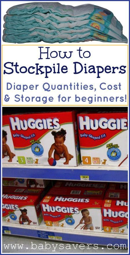 """How to stockpile diapers. Another pinner said, """"This is hands down the BEST tutorial I've seen for buying diapers in advance! It covers everything: sizes, amounts, storage, prices...saving this!"""""""