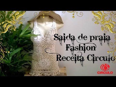 Saída de Praia Fashion - receita Círculo - YouTube