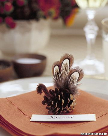 Cute for the Thanksgiving table.