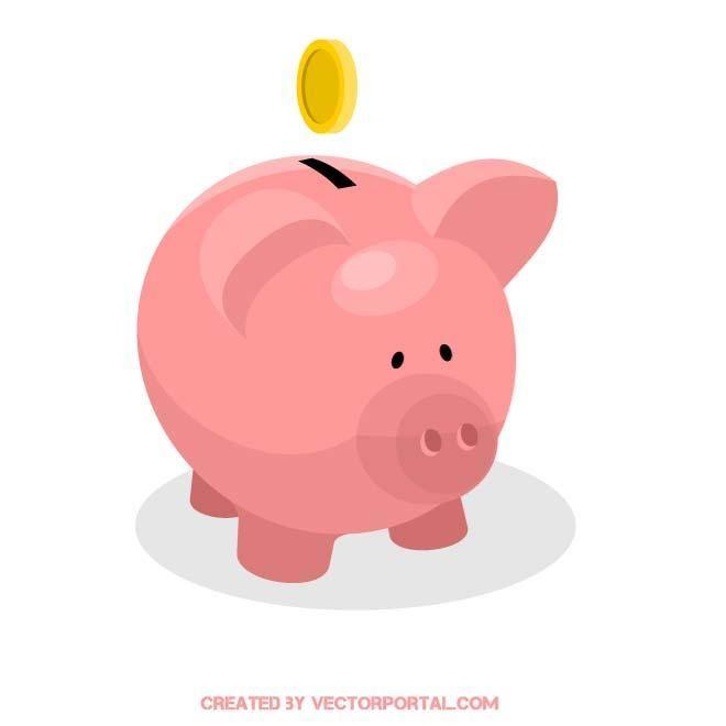 Piggy Bank Vector Image.   Various Vectors   Pinterest ...