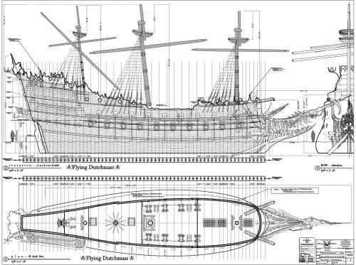 Blueprints for the Flying Dutchman.