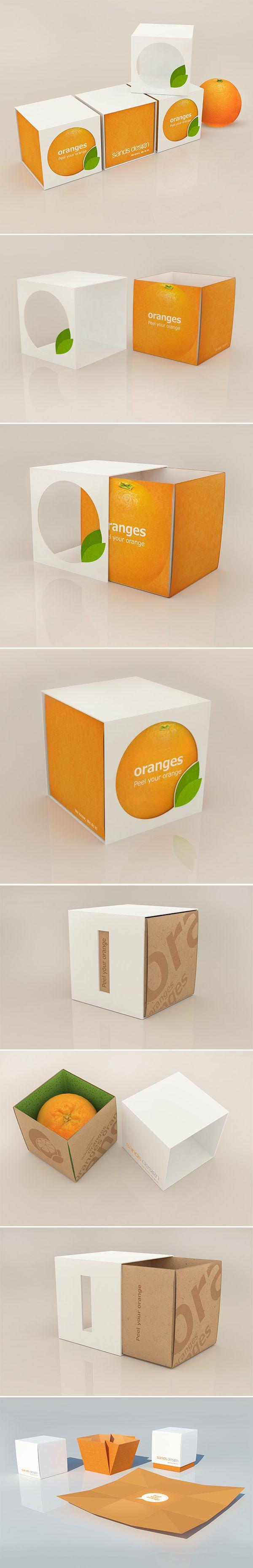 Orange packaging by Bublik , via Behance