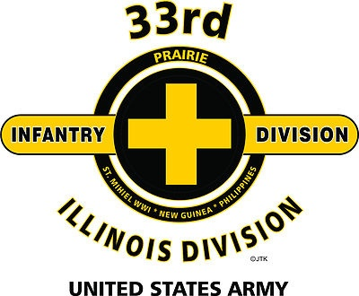 """33rd Infantry Division """" Illinois Division """" United States Army Shirt"""