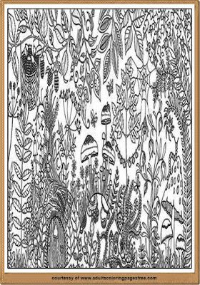 Take A Moment Of Your Time To Color Detailed Forest Coloring Pages Adults Which Was Specially