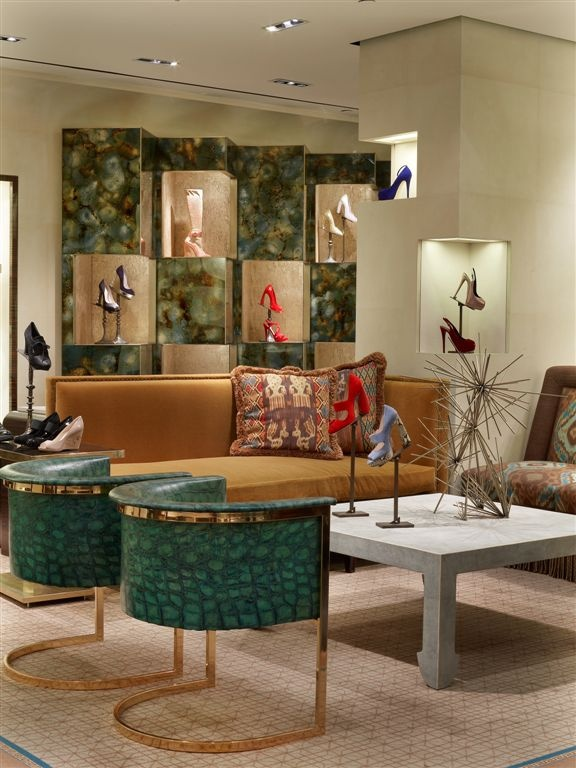Rawlins design inc bergdorf goodman designer shoe salon - Bergdorf goodman salon ...