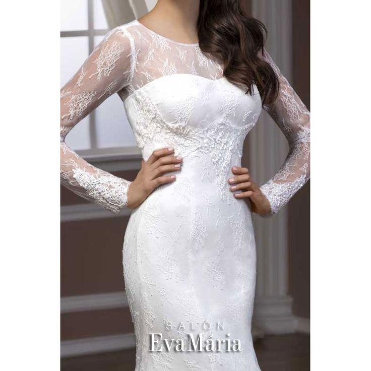 Biele svadobné šaty Antonia
