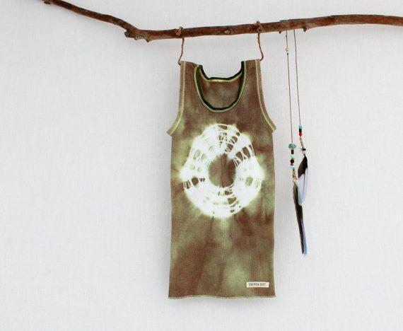 WARRIOR . tie dye baby singlet top . sizes 000 to 2 . khaki