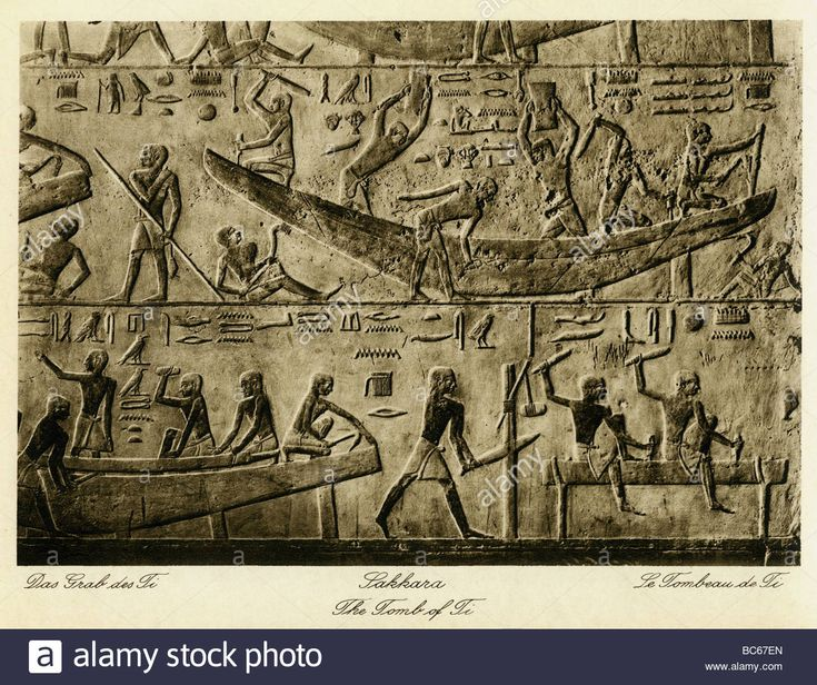 Download this stock image: geography / travel, Egypt, Saqqara, Tomb of Ti (5th dynasty), interior view, relief, 1930s,  excavations, hieroglyphs, Africa, 2 - bc67en from Alamy's library of millions of high resolution stock photos, illustrations and vectors.