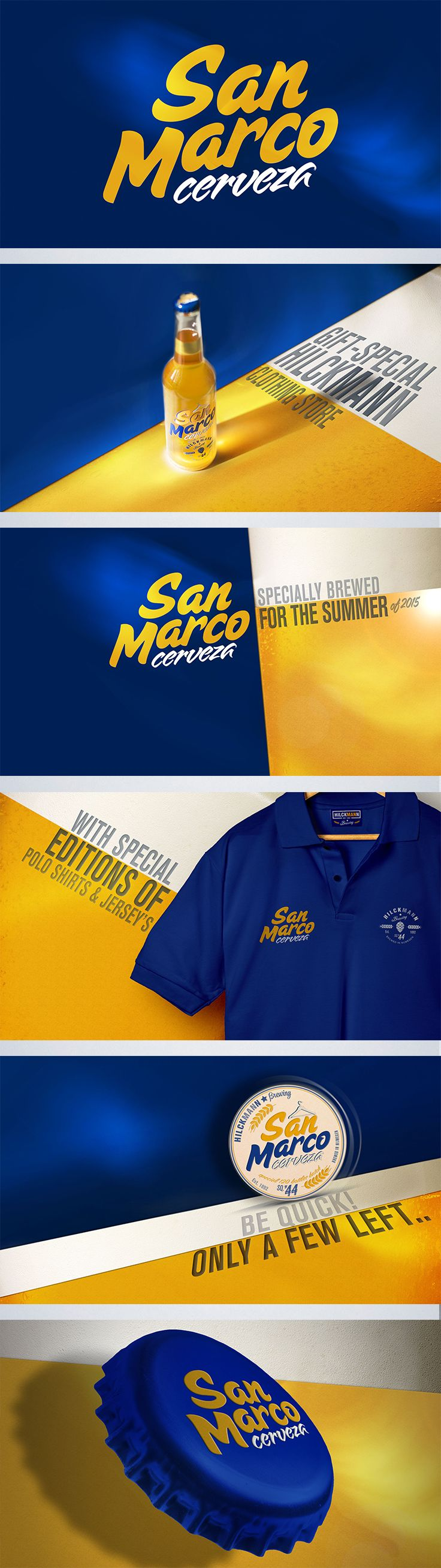 San Marco cerveza is a special edition beer project brewed and designed for clothing store Hilckmann