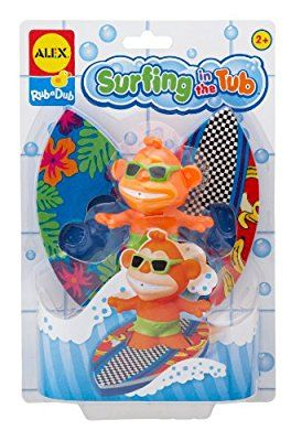 Alex Toys Kid's Surfing in The Tub Bath Time Kit with Squirter and Foam Surfboards (Assortment)