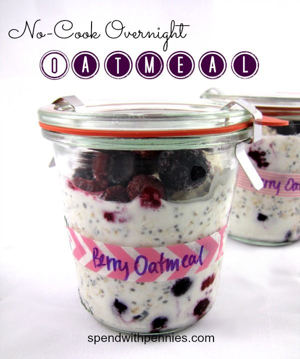 No-Cook Overnight Oatmeal April 10, 2013 by Holly :) 24 Comments No-Cook Overnight Oatmeal