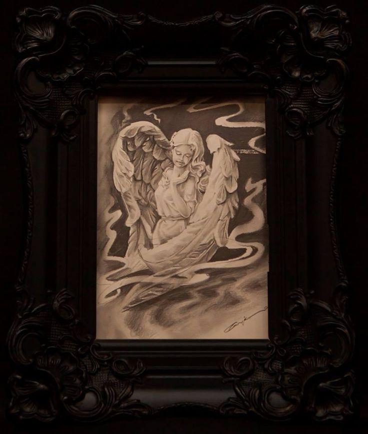 engin şahin - angel - melek - çizim - karakalem - charcoal