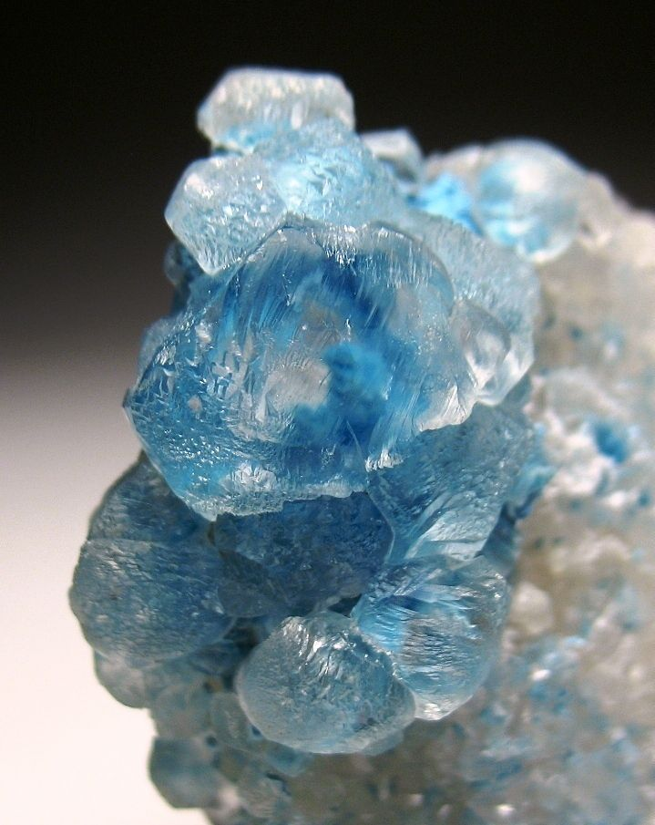 Shattuckite included Calcite crystals - Namibia