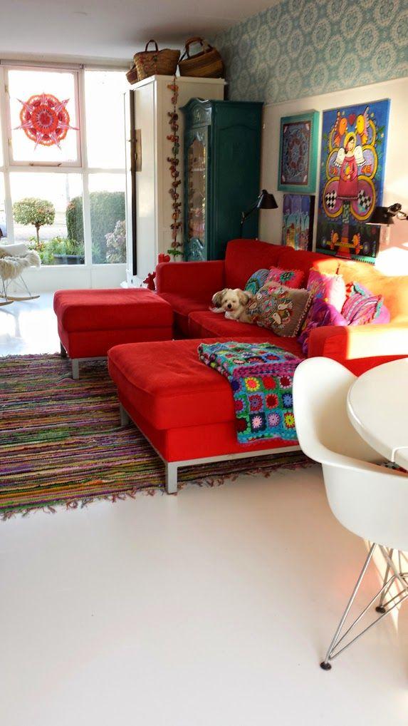 very unique interior! handwerkjuffie.blogspot.nl