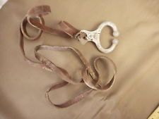 Vintage Stone Mfg Kansas City, MO  Bull Nose Ring Lead Clamp Farm Ranch Leather