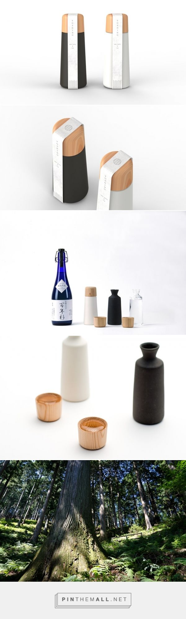 Yoshino #Sake #Cup And #Bottle designed by Doogdesign (#Japan) - http://www.packagingoftheworld.com/2016/02/yoshino-sake-cup-and-bottle.html