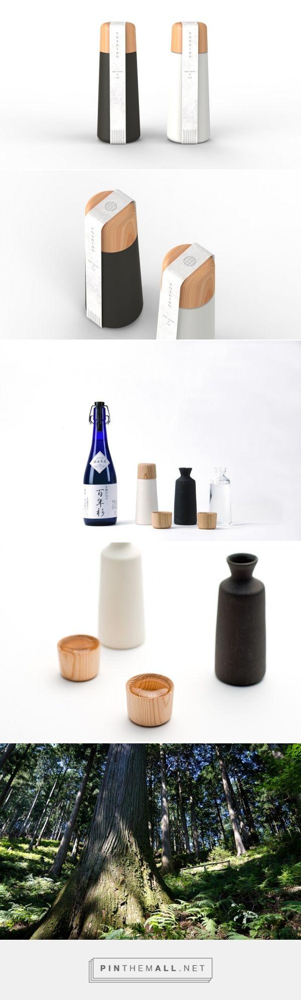 Yoshino #Sake #Cup And #Bottle designed by Doogdesign (#Japan) - http://www.packagingoftheworld.com/2016/02/yoshino-sake-cup-and-bottle.html