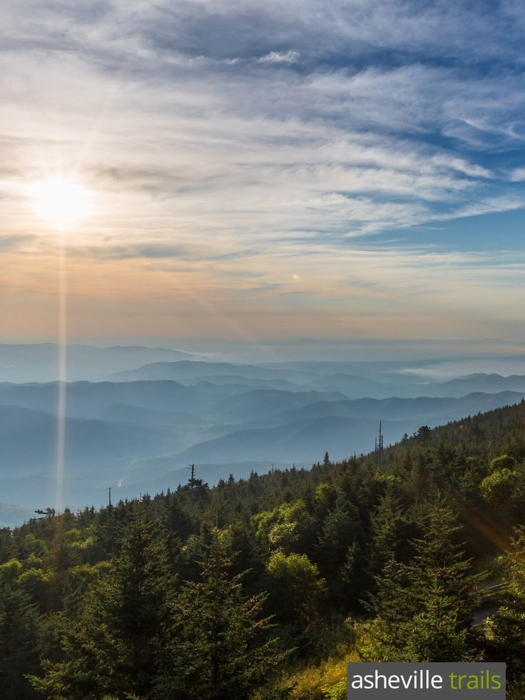 Hike to the Mount Mitchell summit north of Asheville, NC to catch incredible, 360-degree panoramas from the highest mountain summit east of the Mississippi River