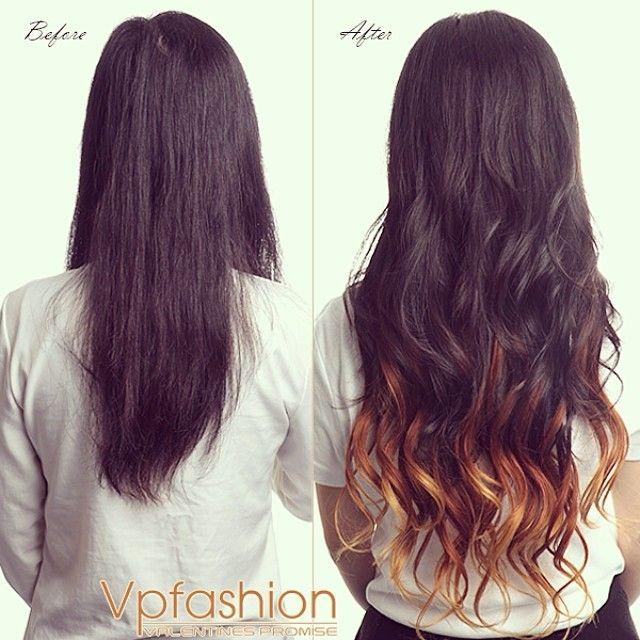 foto prima e dopo extension capelli indossate