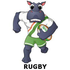 Meet our new Sportbaby character. Hippo loves odd shaped balls. #rugby #baby