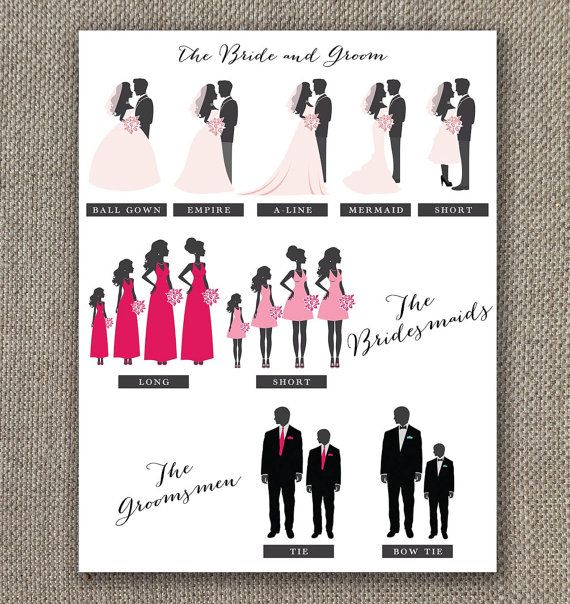 Fall Wedding Program with Bridal Party by EventswithGrace on Etsy