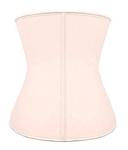 YIANNA Women's Underbust Latex Sport Girdle Waist Training Corset Waist Body Shaper at Amazon Women's Clothing store: