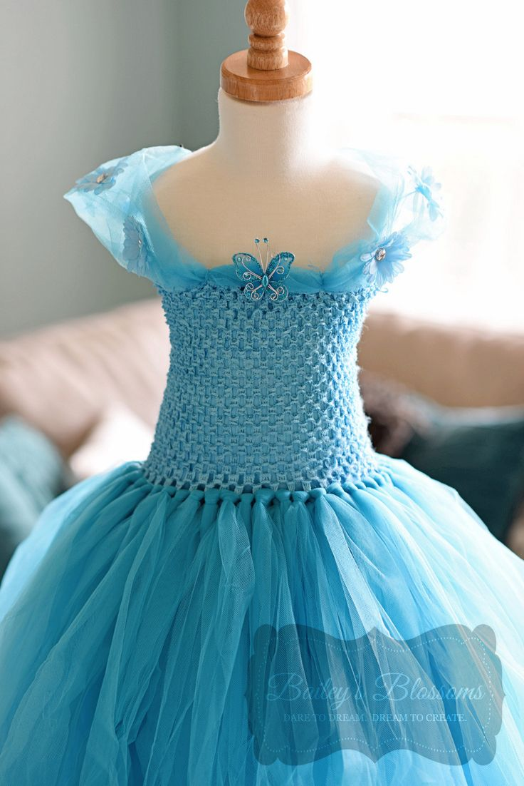 Our gorgeous,fully lined Cinderella tutu dress is a must for any princess loving little girl!! The ultimate costume for Halloween, birthdays, parties, photos o