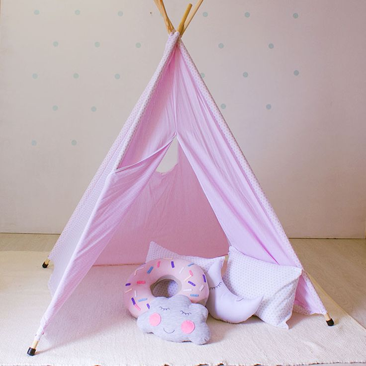 Pink Dot teepee for girls- ideal for quiet time or playing in.