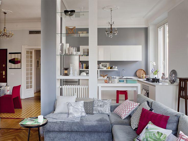 open space: come dividere cucina e soggiorno | lucia | pinterest ... - Soggiorno Open Space Piccolo 2