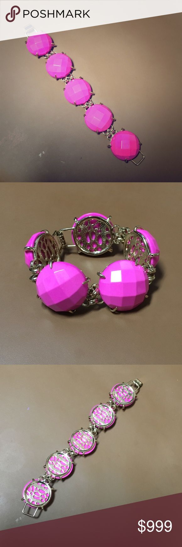 Magenta Cassie Kendra Scott HTF Please use the offer button only. I will not discuss price in comment. You'll get $50 off on top of your offer and free shipping if buying via ️️ or Ⓜ️. Item will come with KS yellow box and pouch. Karen Scott Jewelry Bracelets