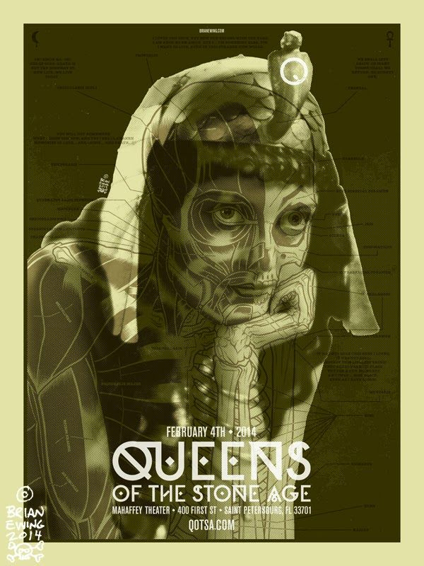 Queens of the Stone Age - Brian Ewing - St. Petersburg Poster