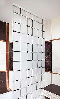 HALB-KASSETTEN DUSCHROLLO 160 cm EXTRA BREIT MODELL QUADRO DUSCHVORHANG GRAU in Möbel & Wohnen, Badzubehör & -textilien, Duschvorhänge   eBay