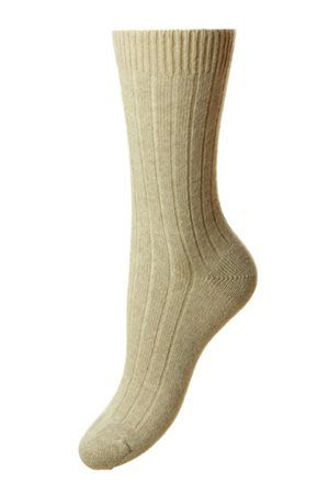 Campbell's of Beauly -Tabitha Cashmere Sock Natural