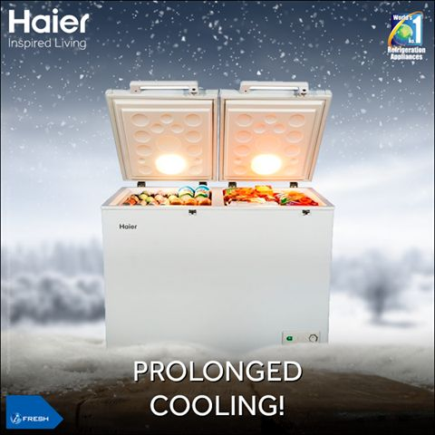 The #Haier's Deep Freezer, with Cellular Foaming Technology ensures higher cooling retention, giving your products a long lasting shelf life.  #Technology #Appliances #Lifestyle #Innovation #HaierIndia #InspiredLiving