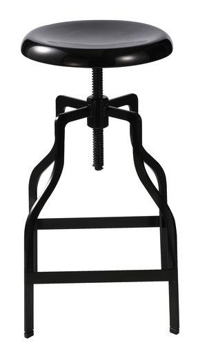 Turner Industrial Barstool Black
