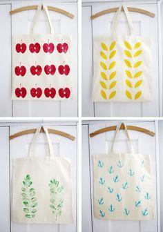 sacs empreintes fruits/feuilles
