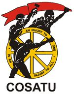 he Congress of South African Trade Unions (COSATU) is a trade union federation in South Africa. It was founded in 1985 and is the largest of the country's three main trade union federations, with 21 affiliated trade unions,[note 1][1] altogether organising 1.8 million workers.